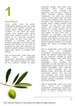 Olive Tree Word Template First Inner Page