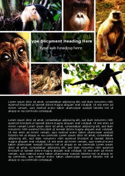 Primates Word Template, Cover Page, 05820, Agriculture and Animals — PoweredTemplate.com