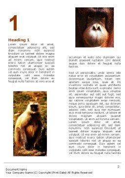 Primates Word Template, First Inner Page, 05820, Agriculture and Animals — PoweredTemplate.com