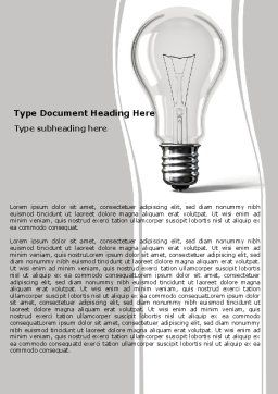 Lamp In Gray Colors Word Template, Cover Page, 05824, Consulting — PoweredTemplate.com
