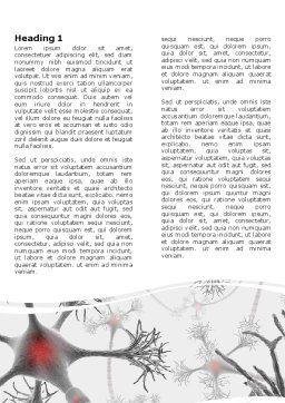Neural Nodes Word Template, First Inner Page, 05826, Medical — PoweredTemplate.com