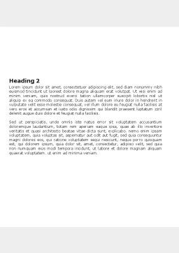 Neural Nodes Word Template, Second Inner Page, 05826, Medical — PoweredTemplate.com