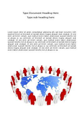 Public Speaking Circle Word Template, Cover Page, 05828, 3D — PoweredTemplate.com
