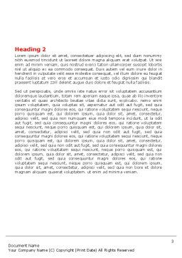 Public Speaking Circle Word Template, Second Inner Page, 05828, 3D — PoweredTemplate.com