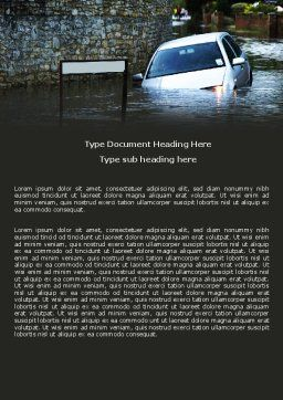 Road Flooding Word Template, Cover Page, 05829, Nature & Environment — PoweredTemplate.com