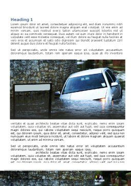 Road Flooding Word Template, First Inner Page, 05829, Nature & Environment — PoweredTemplate.com