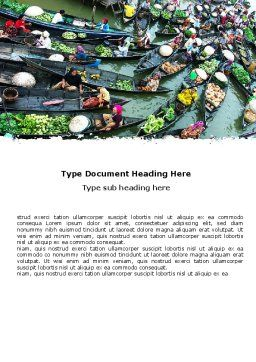Thailand Word Template, Cover Page, 05830, Food & Beverage — PoweredTemplate.com