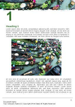 Thailand Word Template, First Inner Page, 05830, Food & Beverage — PoweredTemplate.com