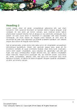 Thailand Word Template, Second Inner Page, 05830, Food & Beverage — PoweredTemplate.com
