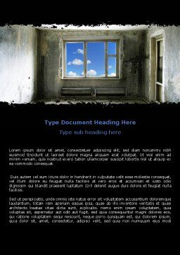 Ruined Apartment Word Template, Cover Page, 05831, Consulting — PoweredTemplate.com