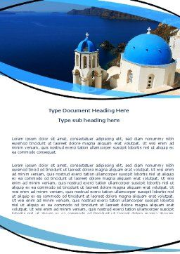 Greek Island Word Template, Cover Page, 05833, Religious/Spiritual — PoweredTemplate.com