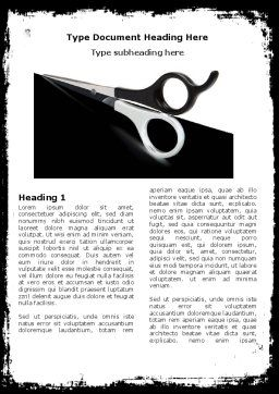 Black And White Scissors Word Template, First Inner Page, 05835, Consulting — PoweredTemplate.com