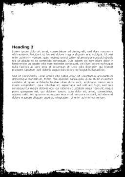 Black And White Scissors Word Template, Second Inner Page, 05835, Consulting — PoweredTemplate.com