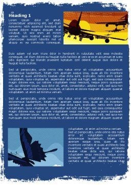 Flying Word Template, First Inner Page, 05836, Cars/Transportation — PoweredTemplate.com