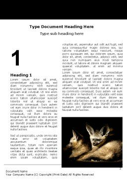 Bat-eared Fox Word Template, First Inner Page, 05837, Agriculture and Animals — PoweredTemplate.com