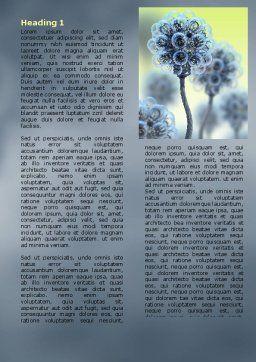 Electric Flower Word Template, First Inner Page, 05839, 3D — PoweredTemplate.com