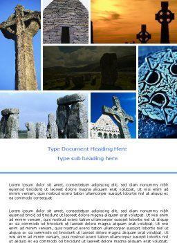Celtic Revival Word Template, Cover Page, 05840, Religious/Spiritual — PoweredTemplate.com