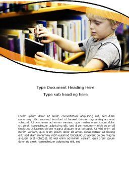 Childrens Library Word Template, Cover Page, 05843, Education & Training — PoweredTemplate.com