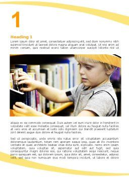 Childrens Library Word Template, First Inner Page, 05843, Education & Training — PoweredTemplate.com