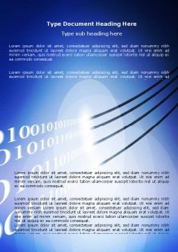 Wired Internet Word Template, Cover Page, 05844, Telecommunication — PoweredTemplate.com