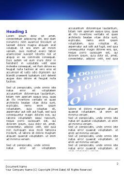 Wired Internet Word Template, First Inner Page, 05844, Telecommunication — PoweredTemplate.com