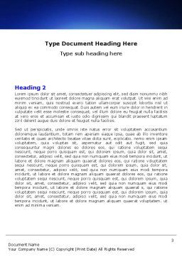 Wired Internet Word Template, Second Inner Page, 05844, Telecommunication — PoweredTemplate.com