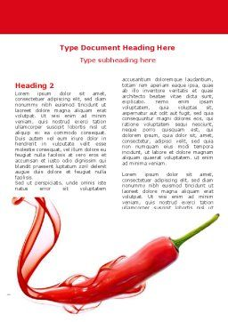 Chili Pepper Word Template, First Inner Page, 05845, Food & Beverage — PoweredTemplate.com