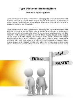 Present Past Word Template, Cover Page, 05847, Consulting — PoweredTemplate.com