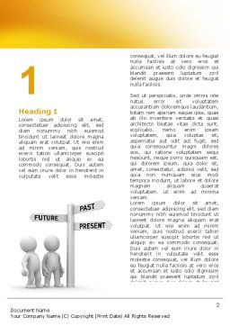 Present Past Word Template, First Inner Page, 05847, Consulting — PoweredTemplate.com