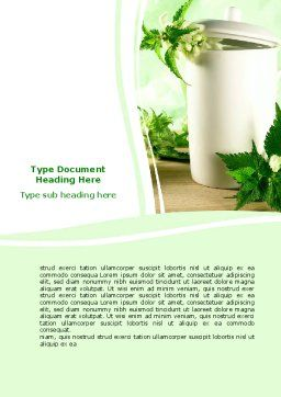 Nettle Word Template, Cover Page, 05848, Nature & Environment — PoweredTemplate.com