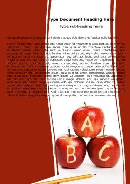 Apples ABC Word Template, Cover Page, 05849, Education & Training — PoweredTemplate.com