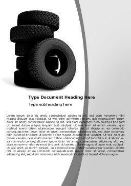 Tires Word Template, Cover Page, 05850, Careers/Industry — PoweredTemplate.com