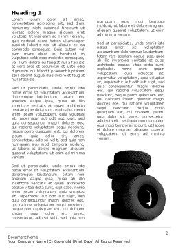 Tires Word Template, First Inner Page, 05850, Careers/Industry — PoweredTemplate.com