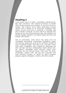 Tires Word Template, Second Inner Page, 05850, Careers/Industry — PoweredTemplate.com
