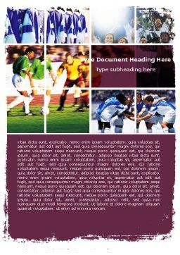 Soccer Team Word Template, Cover Page, 05851, Sports — PoweredTemplate.com