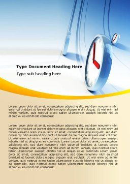 Running Clocks Word Template, Cover Page, 05852, Consulting — PoweredTemplate.com