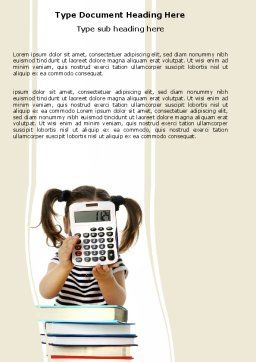 School Math Word Template, Cover Page, 05855, Education & Training — PoweredTemplate.com