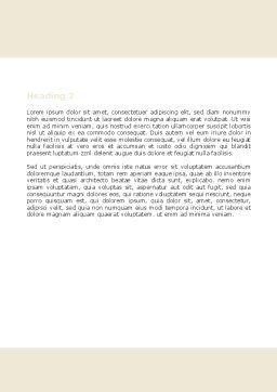 School Math Word Template, Second Inner Page, 05855, Education & Training — PoweredTemplate.com