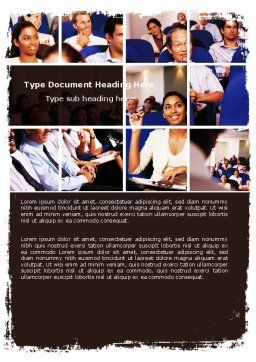 Business Seminar Word Template, Cover Page, 05856, Education & Training — PoweredTemplate.com