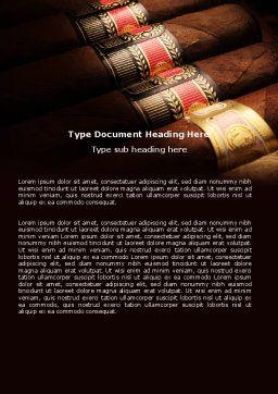 Cigars Word Template, Cover Page, 05858, Careers/Industry — PoweredTemplate.com