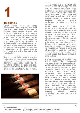 Cigars Word Template, First Inner Page, 05858, Careers/Industry — PoweredTemplate.com