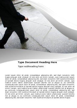 Blindness Word Template, Cover Page, 05860, Consulting — PoweredTemplate.com