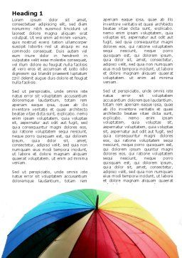 Rainbow Umbrella Word Template, First Inner Page, 05861, Consulting — PoweredTemplate.com