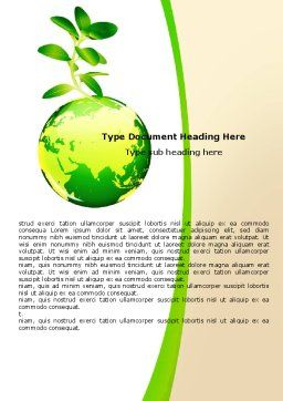 Green Earth Word Template Cover Page