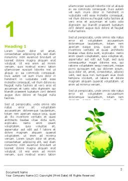Green Earth Word Template First Inner Page