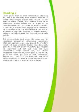 Green Earth Word Template, Second Inner Page, 05862, Nature & Environment — PoweredTemplate.com