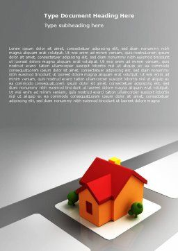 Planning For Building Suburb Word Template, Cover Page, 05866, Construction — PoweredTemplate.com