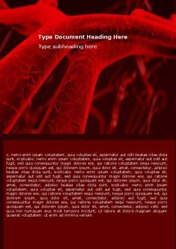 Arteries Word Template, Cover Page, 05868, Medical — PoweredTemplate.com
