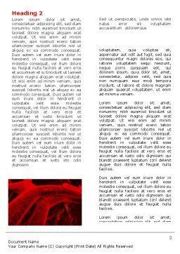 Arteries Word Template, First Inner Page, 05868, Medical — PoweredTemplate.com