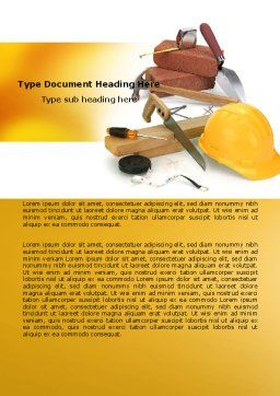 Building Tools Word Template, Cover Page, 05869, Utilities/Industrial — PoweredTemplate.com